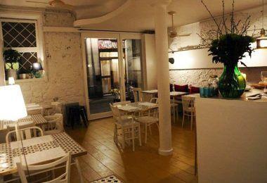 interior restaurante italiano meneghina barcelona