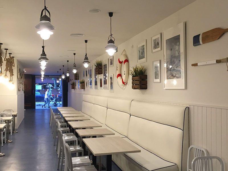 mostrador salon restaurante la paradeta gracia barcelona
