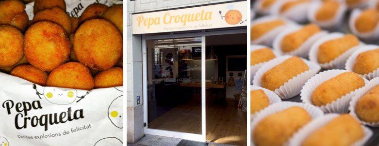 pepa croqueta tienda de comida para llevar barcelona