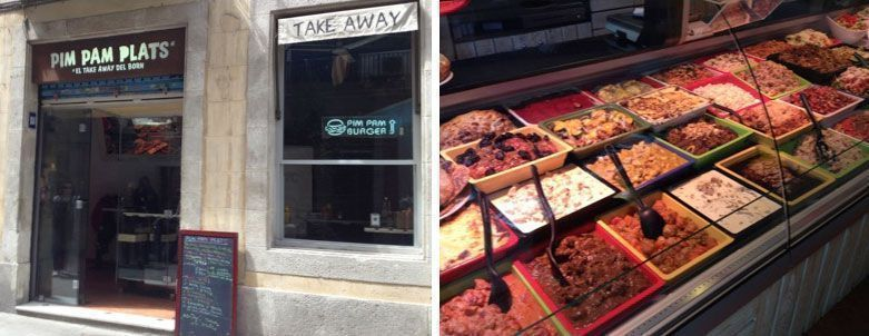 pim pam plats tienda de comida para llevar barcelona