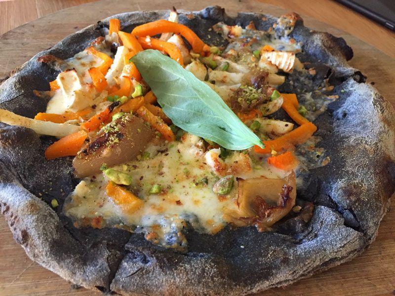 pizza vegetariana restaurante green spot barcelona