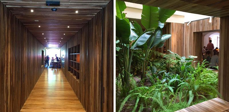 interior jardín restaurante green spot barcelona
