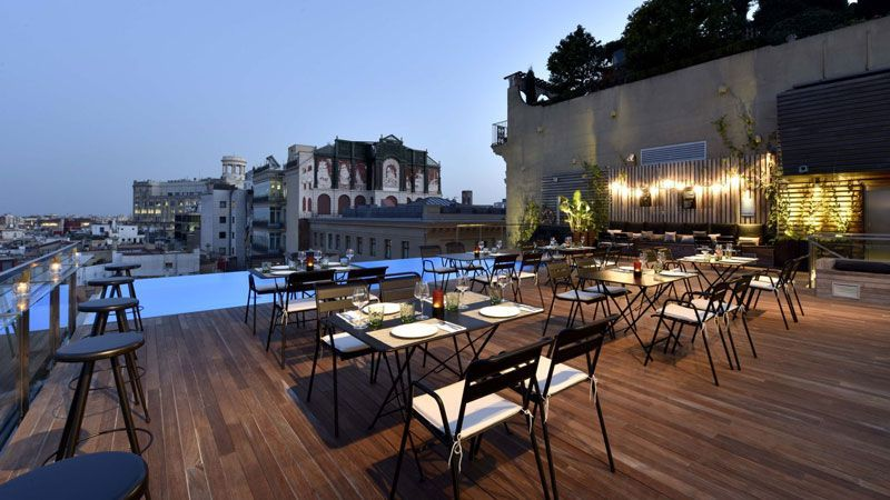 terraza hotel grand central barcelona