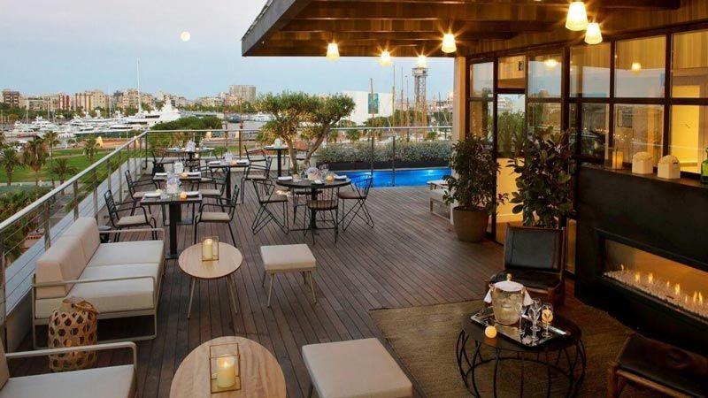 hotel the serras restaurante terraza hoteles barcelona