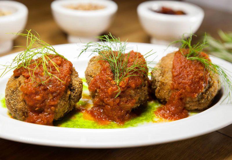albondigas vegetarianas restaurante vegetariano aguaribay