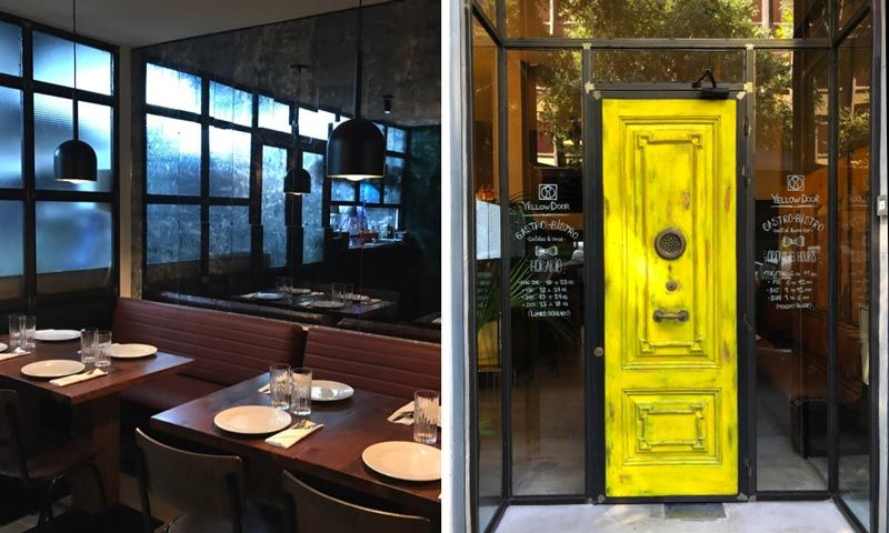 puerta restaurante yellow door barcelona