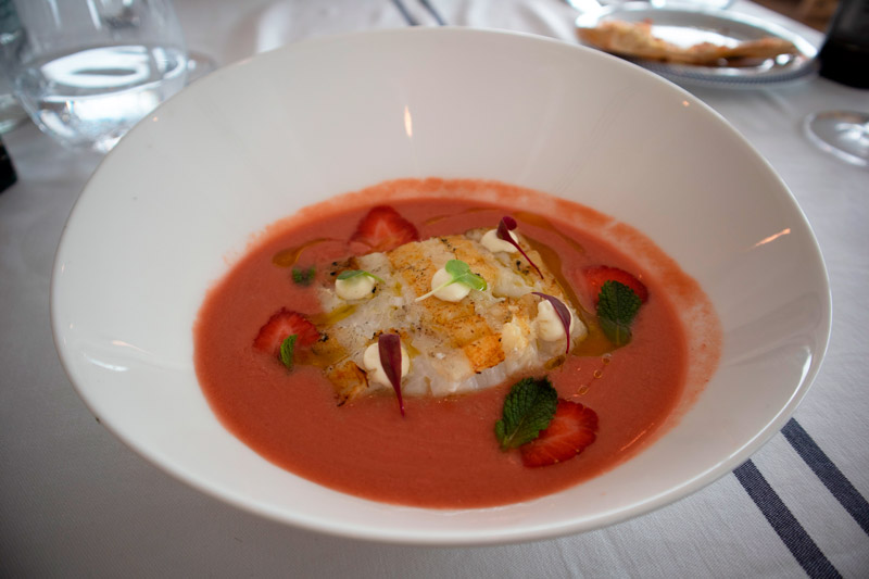 bacalao salmorejo restaurante maritim barcelona