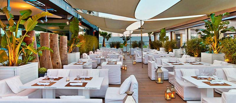 puro beach restaurantes con terraza en barcelona
