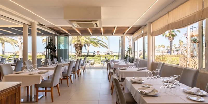 coso del mar restaurante en la playa de valencia