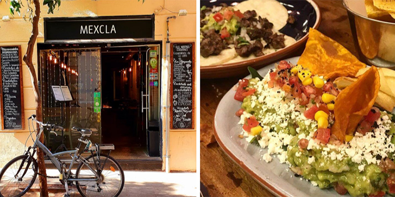 mexcla restaurante mexicano en gracia barcelona